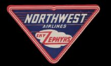 Airline label luggage label U.S.A. Northwest Airline  #455